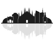Milano skyline illustrated Stock Images