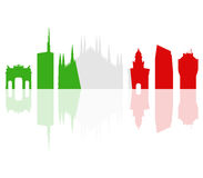 Milano skyline illustrated Royalty Free Stock Image