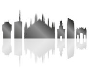 Milano skyline illustrated Stock Image