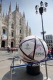 Milano sostiene il finale 2016 della lega immagini stock libere da diritti