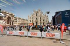 Milano sostiene il finale 2016 della lega immagini stock