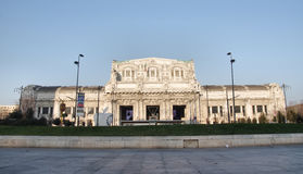 Milano Stazione Centrale the railway station in Milan, Italy Royalty Free Stock Images