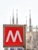 Milano tunnelbana royaltyfri foto