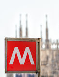 Milano Underground royalty free stock photo
