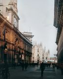 Milano view of Duomo. Duomo of Milan Italy Royalty Free Stock Images