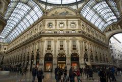 Milano, vista dell'interno della galleria di Vittorio Emanuele Immagine Stock