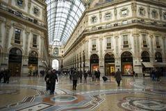 Milano, vista dell'interno della galleria di Vittorio Emanuele Immagini Stock Libere da Diritti