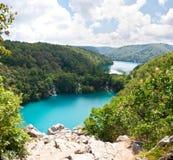 Milanovac瀑布小瀑布从上面 免版税库存照片