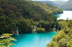 Milanovac瀑布小瀑布从上面 免版税图库摄影