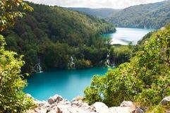 Milanovac瀑布小瀑布从上面 图库摄影