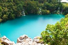 Milanovac瀑布小瀑布从上面 库存照片