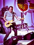 Milas, Indyczy †'Sierpień, 2015 Turecki rockowego piosenkarza Haluk Levent spełnianie w Milas Obrazy Stock