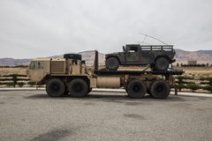 Milatary Heavy Expanded Mobility Tactical Truck Stock Image