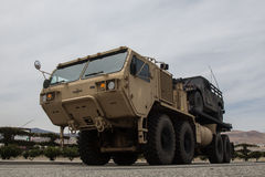 Milatary Heavy Expanded Mobility Tactical Truck Stock Photography