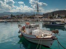 Milatos schronienia widok Północno-wschodni Crete obrazy stock