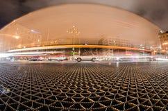 Milawaukee wisconsin city skyline at night stock photos