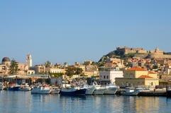 Milazzo. In the harbor of Milazzo, Sicily Stock Photos