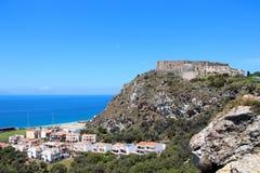 Milazzo kasztel, Sicily, Włochy zdjęcie stock