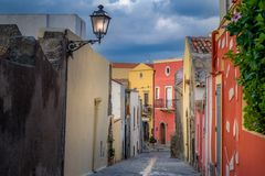 Milazzo old street Stock Photos