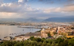 Milazzo at sunset Stock Images