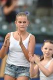 2014 MiLB - équipe pregame de danse de base-ball Photos stock