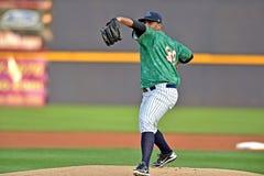 2014年MiLB -棒球投手 库存照片