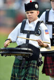2014 MiLB - banda pre-partita della cornamusa di baseball Fotografie Stock Libere da Diritti