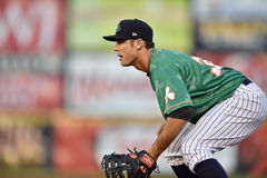 2014 MiLB - baseball infield defense Royalty Free Stock Photography
