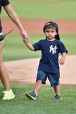 2014 MiLB - baseball pregame first pitch Stock Image