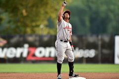 2014 MiLB - baserunner de base-ball Images stock