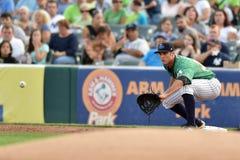 2014 MiLB - joueur de terrain de base-ball Photographie stock libre de droits
