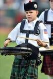 2014 MiLB - pregame Dudelsackband des Baseballs Lizenzfreie Stockfotos