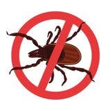 Milbenparasiten Tick Silhouette Warnzeichen des Symbolparasiten lizenzfreie abbildung