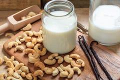 Milch des strengen Vegetariers von den Acajoubäumen Stockfotografie