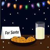 Milch für Santa Claus Weihnachtsnachtisch Stockfotos