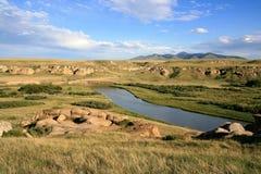 Milch-Fluss und Sweetgrass Hügel lizenzfreie stockfotos