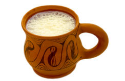 Milch im Cup Stockfoto