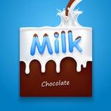 Milch mit Schokolade Stockfotografie