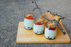 Milch-Pudding Lizenzfreie Stockbilder