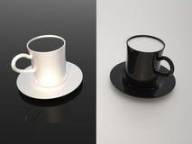Milch und coffe Stockfoto