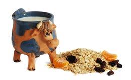 Milch und Flocken Lizenzfreies Stockfoto