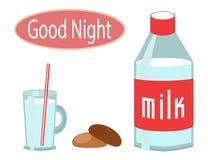 Milch- und Hafermehlplätzchen Lizenzfreies Stockbild