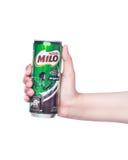 Milch- und Miloproduktschuß Stockfoto