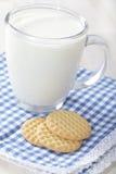 Milch und Plätzchen Lizenzfreies Stockfoto