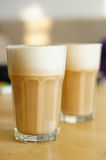 Milchkaffee Stockfoto