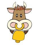 Milchkuh mit Cowbell. stock abbildung