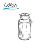 Milchprodukt-Vektorsammlung dose stock abbildung