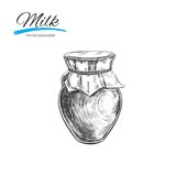Milchprodukt-Vektorsammlung Hand gezeichnete Abbildung vektor abbildung