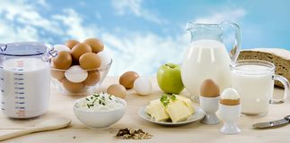 Milchprodukte stockbilder