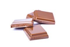 Milchschokolade ist geschmackvoll Stockfotografie